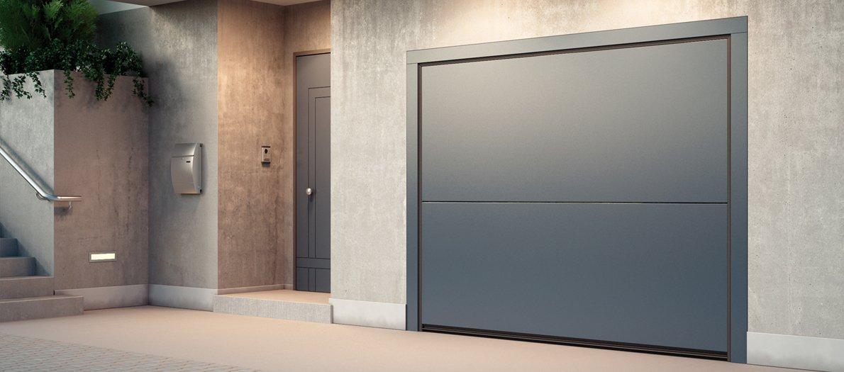 תמונה של דלת למוסך מעוצבת של חברת אובר לפ